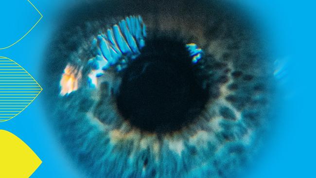 A close-up photo of an eye